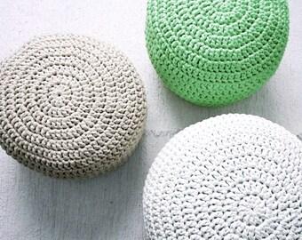 Mint Pouf Ottoman-Mint Footstool-Crochet Pouf-Mint Nursery Decor-Living Room Knit Ottoman Poufs-Kids Furniture-Baby Shower Gifts