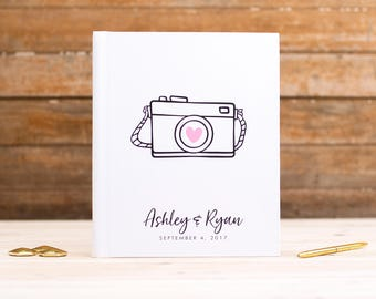 Lay Flat Wedding Guest Book Wedding Guestbook Photo Booth Book Instant Photo Album Custom Photo Album Wedding Photo Album Photo Guest Book
