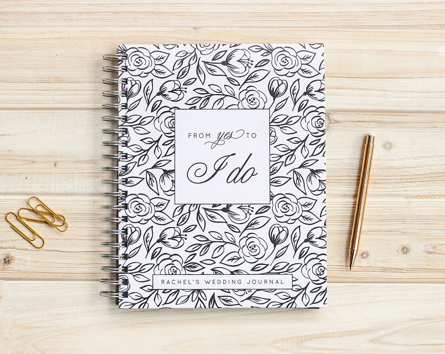Wedding journal personalized wedding planner book wedding binder wedding journal personalized wedding planner book wedding binder wedding planner wedding notebook wedding guide engagement journal lay flat junglespirit Choice Image