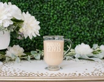 Engraved Wedding Gifts Ireland : ... Engraved Glass Coffee MugWeddingEngagement GiftCouples Gift
