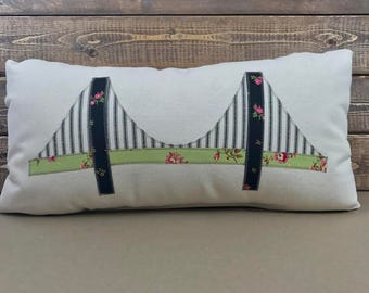 Mackinac Bridge pillow | Michigan Pillow | Accent Pillow | Mighty Mac Bridge pillow | Straits of Mackinac Pillow