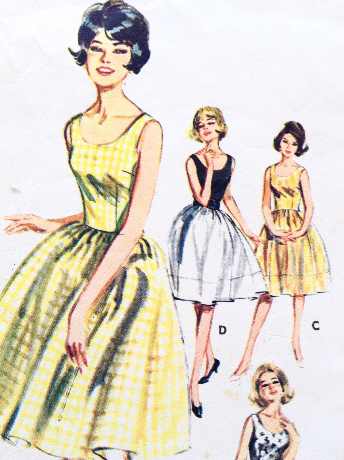 Vintage 1960s Paper Pattern Butterick Quick N Easy Bust
