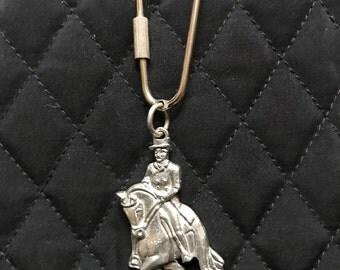 Dressage Keychain, Dressage Key Chain, Dressage Rider, Dressage Horse, Dressage, Dressage Accessory, Horse Key Chain, Horse Keychain