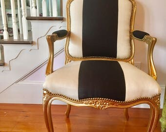 Gold Leaf French Chair