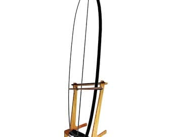 Bamboo Freestanding Vertical SUP Rack & Surf Rack - Paddleboard and Surfboard Rack for 1 board