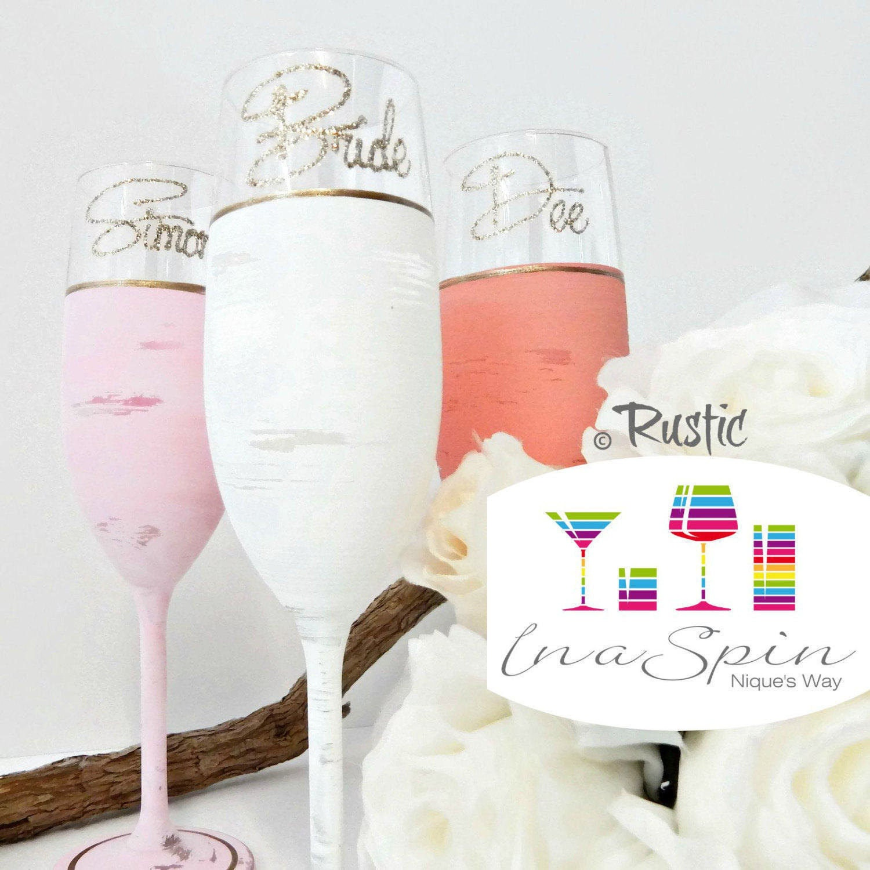 Bridesmaid Gifts Australia Personalised Pastel Wedding Glasses