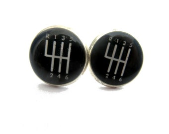 CAR EARRINGS - Gear Shift earrings - mechanics studs - gear box earrings  - speed gear - gear shifter - auto gift - drivers gift - driving