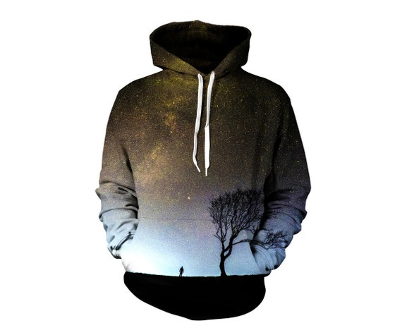 Outer space pullover art hoodie cool nature pattern for Outer space fleece