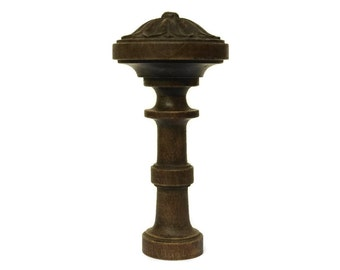Antique Wood Finial. French Furniture Ornament. Architectural Salvage.