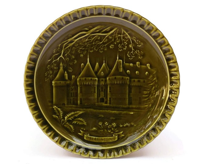 Vintage French Chaumont Castle Wall Plate.