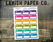 Flight Tracker Box Planner Stickers by Lavish Paper Co. | for Erin Condren, Kikki K, Mormon Planners, inkWELL Press, Sew Much Crafting
