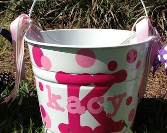 Easter Buckets, Easter baskets, Easter egg, Personalized Easter basket, Personalized Easter bucket