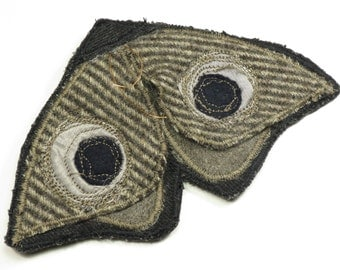 brooch moth, moth fabric, fabric, fabric brooch brooch recycled, upcycled jewelry, jewelry, fabric, fabric moth, moth textile art