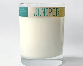 JUNIPER.  12 oz.  Natural Soy Candle.  Hand-Poured.