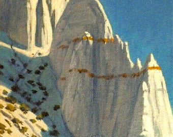 Desert 'Erosional Beauty' - original painting - desert painting - southwest art - rocks - western art - small - square - 6x6 - free shipping