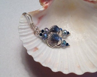 Silver Scallop Shell Earrings