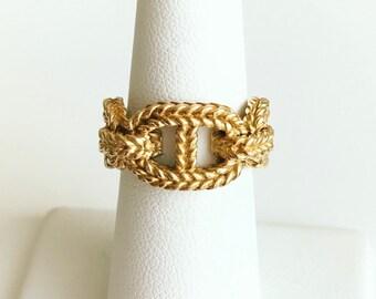 Vintage Hermès Gold Rope Link Ring