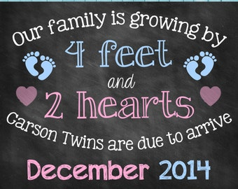 Chalkboard Pregnancy Announcement // Pregnancy Reveal // Twins// Growing Family // Twins announcement