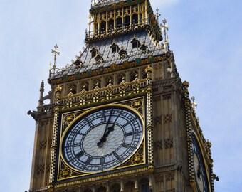 Travel Photography -  Download Big Ben Clock Tower II London England JPEG | Digital Printable Photo