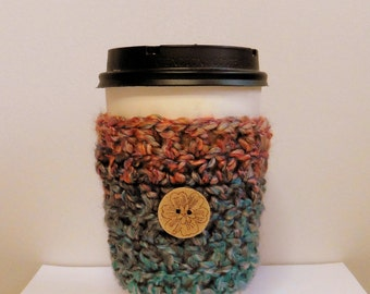 Coffee Cup Sleeve Cozy Take Out Coffee Cup Sleeve Cozy Crocheted Coffee Cup Sleeve Cozy Blue Coffee Cup Sleeve Cozy Blue Take Out Cup Cozy