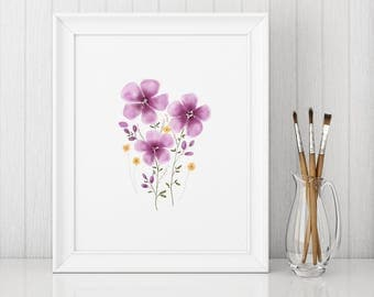 Watercolor Flowers | Spring Home Decor Print | Watercolor Style | Floral Home Decor | Decor Print | Home Decor Print