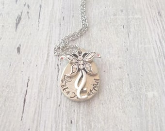 Personalized Butterfly Necklace, Be You tiful, Inspirational Personalized Necklace