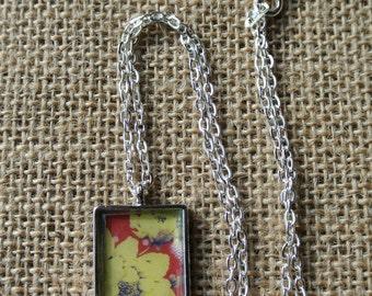 Electric Floral Pendant Necklace