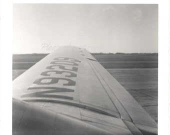 Vintage snapshot Photo ~ Airplane Wing ~ abstract angle