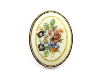 Vintage Flower Brooch, Lucite