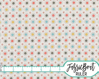 ORANGE & GRAY DOT Fabric by the Yard, Fat Quarter Geometric Circle Retro Dot Fabric 100% Cotton Fabric Quilting Fabric Apparel Fabric w9-30