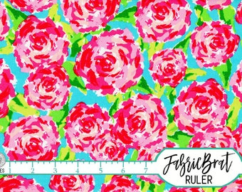 BOLD MODERN FLORAL Fabric by the Yard Fat Quarter Watercolor Painted Roses Quilting Fabric Apparel Fabric 100% Cotton Fabric Yardage a4-13