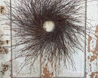 "Natural Brush Twig Wreath - 26"""