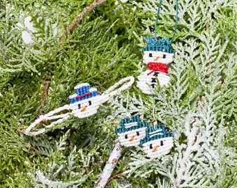 Snowman handmade macrame jewelry/bracelet/necklace/earrings/gift set/christmas/xmas/special gift for her/chic and elegant