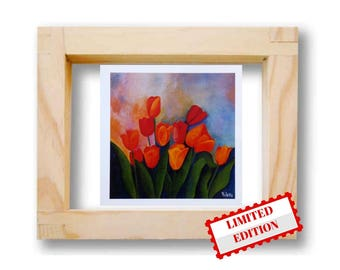 Art print floral Flowers prints Art print home decor Tulips wall art Limited edition Wall arts prints Floral Home Decor Flowers still life
