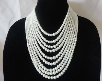 A Fascinated Multi Strand Coated Pearls Necklace Set***.
