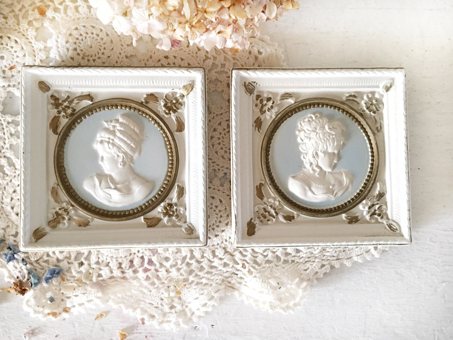 victorian wall plaque cameo silhoettesvintage porcelain cameo wall hangingsvictorian bedroom wall decorelegant cameo wall decor