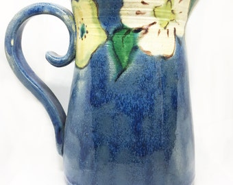Handmade Pottery Pitcher, Pitcher, Ceramic Pitcher, Pottery Pitcher, French Country, Home Decor, Unique Pottery, Handmade, Table Top Decor