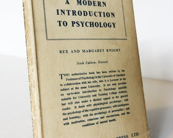Modern Introduction to Psychology 1960s Vintage Books Personality Science Retro guide book