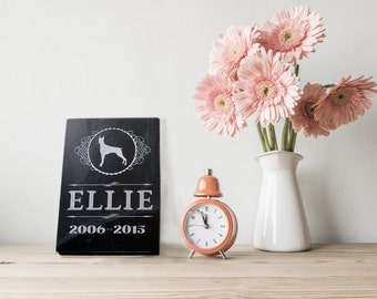 Granite Pet Memorial in Various Sizes and Shapes-- Customize for your Pet! (Victorian Frame Style)