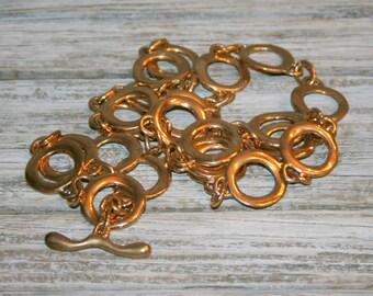 Vintage Womens Gold Chain Belt Heavy Cinch Belt Hippie Bohemian Fashion Belt Open Circle Disk Links Womens Belts Vintage Accessories