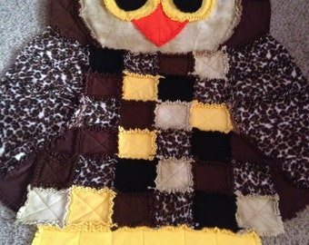 Owl Rag Quilt/Wall Hanging/Rug