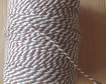 Bakers twine, 10 meters, brown and white, cotton, twine, rope, drawstring, string, kitchen string