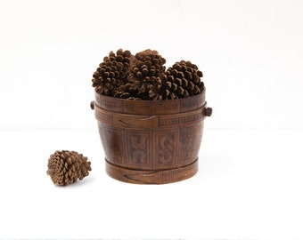 Hand Carved Sugar Bucket