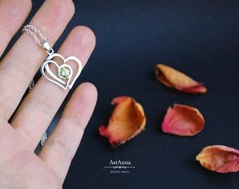 Silver pendant Heart pendant custom pendant Gift for women Gift for mom Silver necklace Romantic pendant Gift for girlfriend