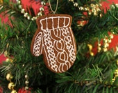 Mitten Cookie Cinnamon Scented Ornament | Handcrafted | Not Real Cookie DO NOT EAT