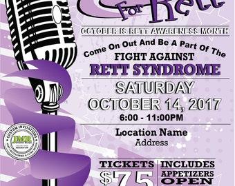 Awareness Fundraiser Flyer, Rett Syndrome, Rocking For Rett