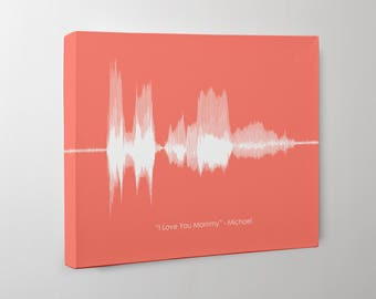 Gift for Mom from Son, Voice Print from Son, Mom Gift from Daughter, Sound Wave Art, Soundwave, Gift for Mom, Gift from Husband