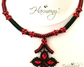 "Beading Kit: ""Harmony"" Necklace in English Beads Only !D.I.Y"