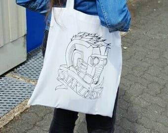 Tote bag with design Star-Lord | Screen Print