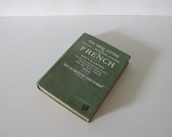 The Ideal system for Learning French  Book  / vintage 1926 // Brentano's New York  Paris